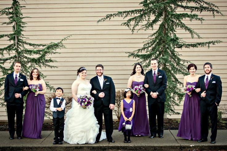 sophisticated floral designs portland oregon wedding florist purple flowers