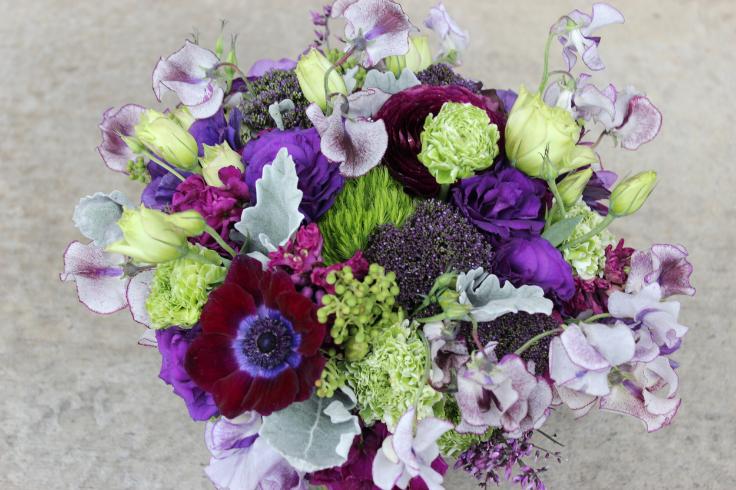purple wedding flowers bridal bouquet sophisticated floral designs