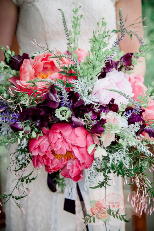 peony bridal bouquet sophisticated floral
