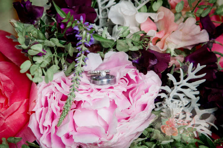 bridal bouquet peony sweet peas sophisticated floral