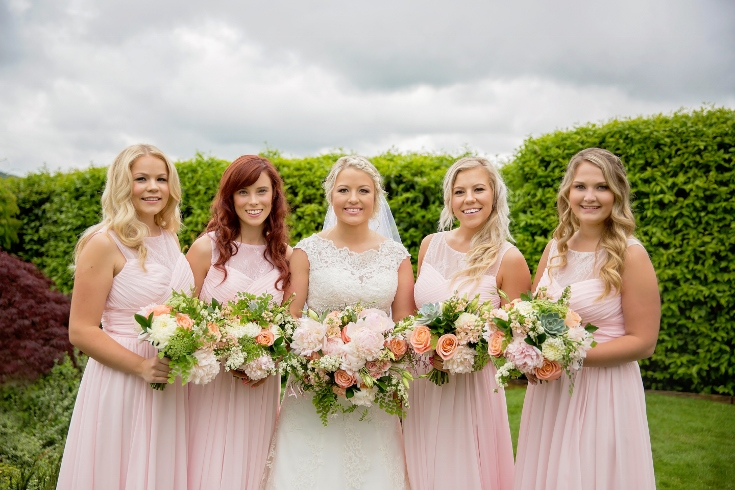 bridal party bridesmaids flowers bouquet sophisticated floral designs portland oregon