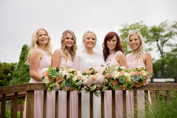 bridal party flowers wedding designs sophisticated floral portland oregon wedding florist