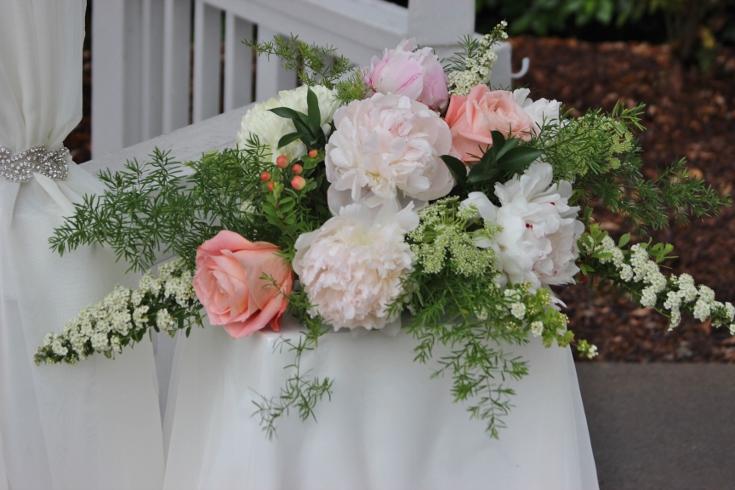 gazebo ceremony decor sophisticated floral
