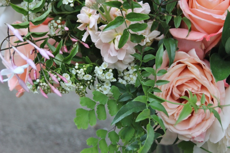 bouquet details bridal flowers wedding sophisticated floral