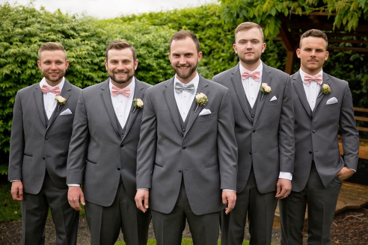 groomsmen and boutonnieres sophisticated floral