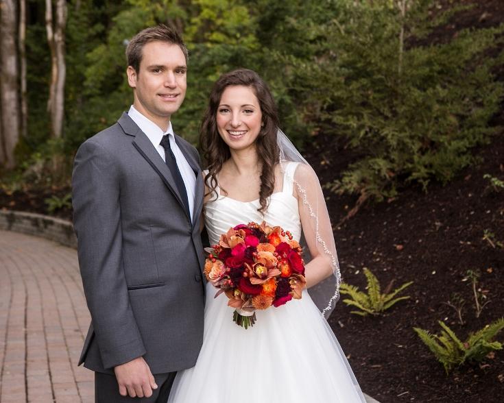 bridal bouquet sophisticated floral oregon wedding abernathy center