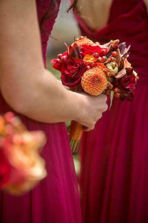 bridesmaids bouquet sophisticated floral designs portland oregon wedding florist