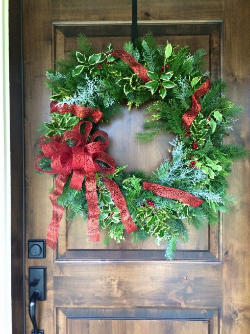 sophisticated floral christmas wreath