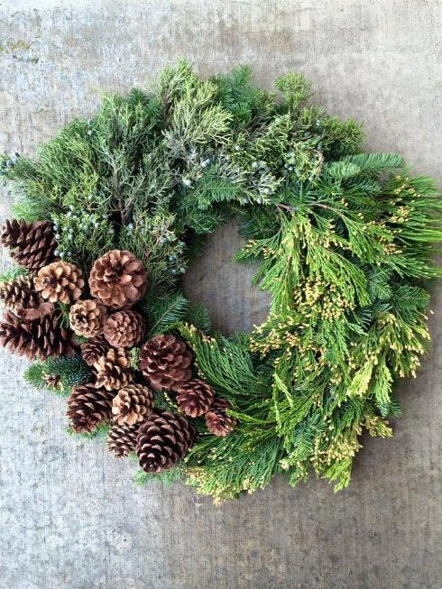 sophisticated floral green christmas wreath