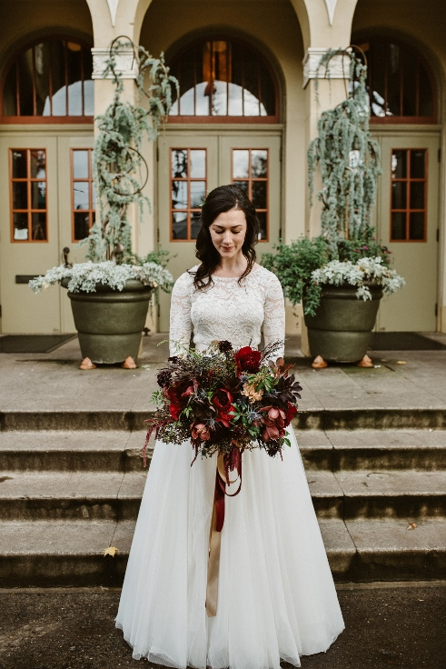 sophisticated floral bridal bouquet