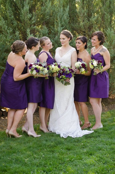 sophisticated floral designs portland oregon wedding florist purple wedding flowers