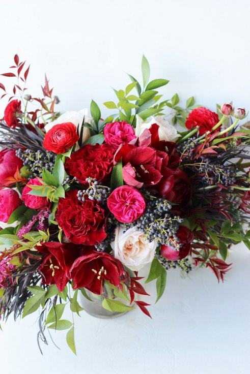 sophisticated floral designs portland oregon wedding florist burgundy red bridal bouquet