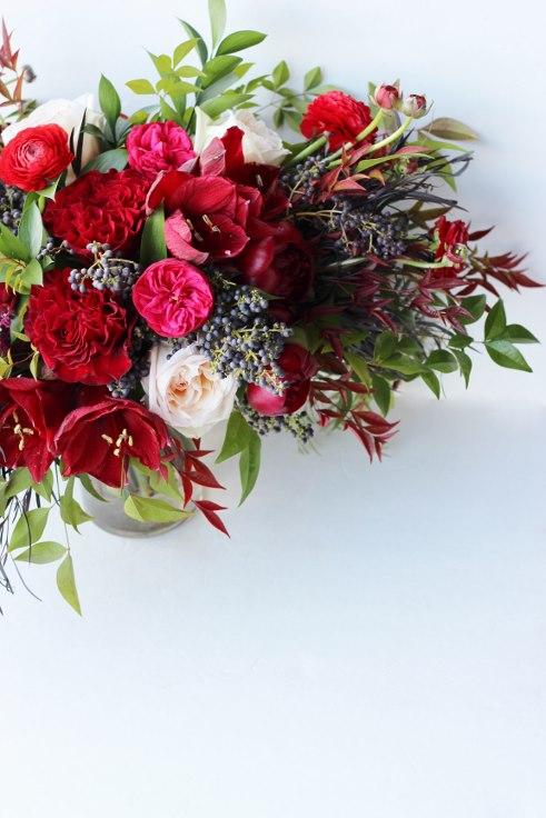 sophisticated floral designs portland oregon wedding florist burgundy red wedding flowers
