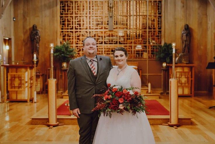 sophisticated floral designs portland oregon wedding florist burgundy dark moody bridal bouquet