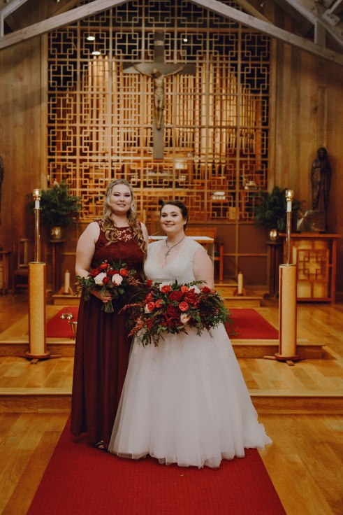 sophisticated floral designs portland oregon wedding florist dark burgundy red bridal bouquet