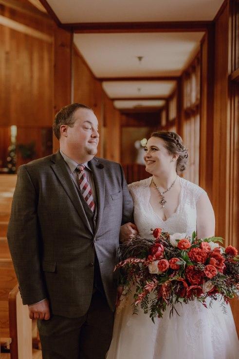 sophisticated floral designs portland oregon wedding florist dark moody bridal bouquet garden style