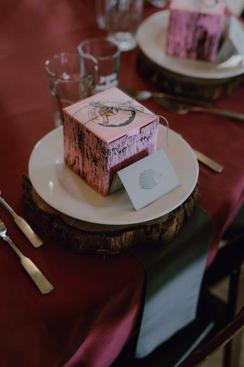 vodoo dougnuts place setting village ballroom wedding
