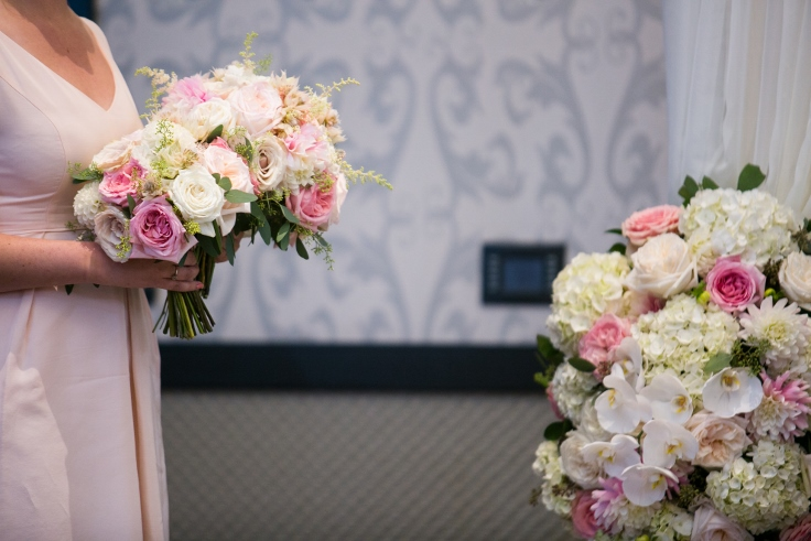 sophisticated floral designs portland oregon wedding florist Nines Hotel wedding ceremony flowers