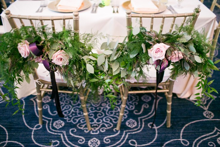 sophisticated floral designs portland oregon wedding florist sentinel hotel george street photo bridal bliss wedding planning sweetheart table chair flowers garland