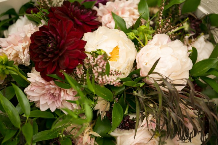 sophisticated floral designs portland oregon wedding florist sentinel hotel george street photo bridal bliss wedding planning peony dahlia bridal bouquet