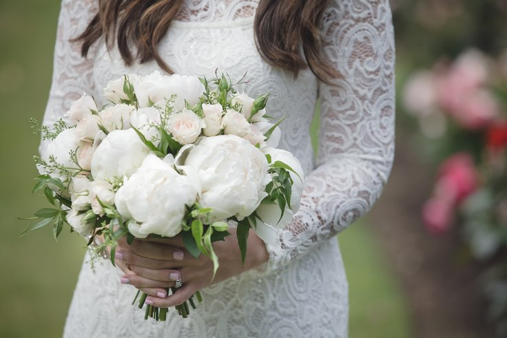 sophisticated floral designs portland oregon wedding florist white peony bouquet