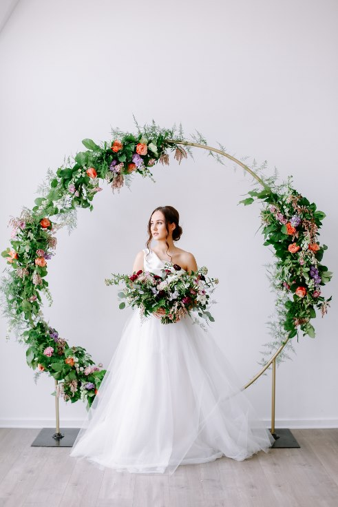 sophisticated floral designs portland oregon wedding florist floral hoop round arbor moon gate arch (16).jpg