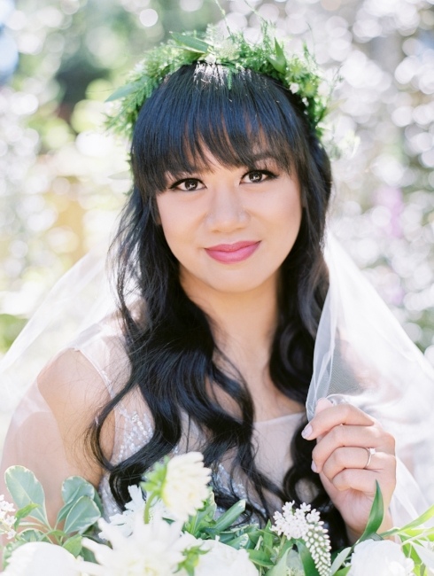sophisticated floral designs portland oregon wedding florist floral crown foliage