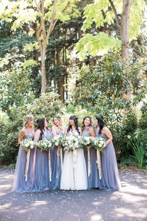 bridal party wedding flowers bouquets sophsiticated floral designs portland oregon wedding flowers