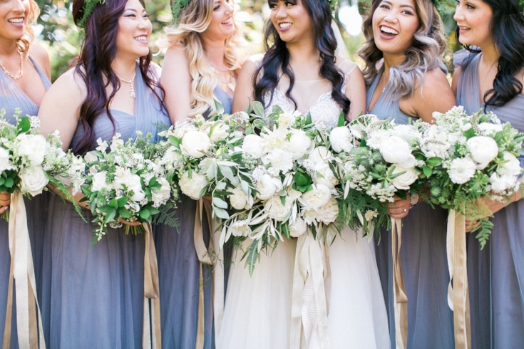 sophisticated floral designs bridal party wedding flowers
