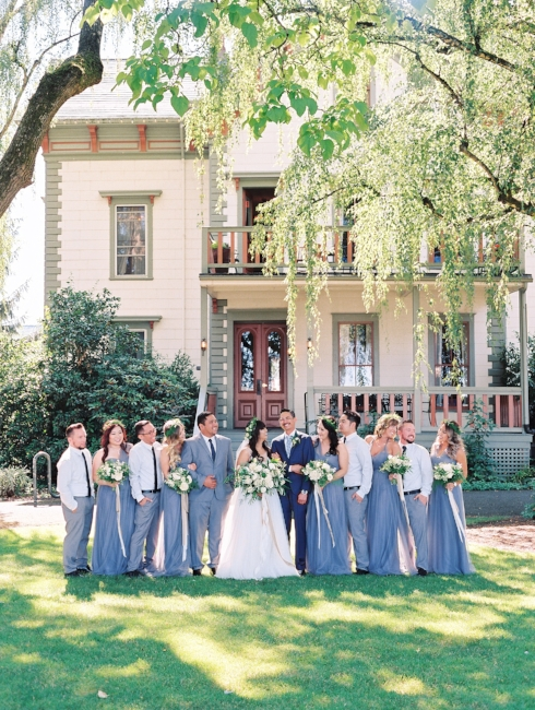 sophisticated floral designs Mcmenamins Roadhouse bridal party