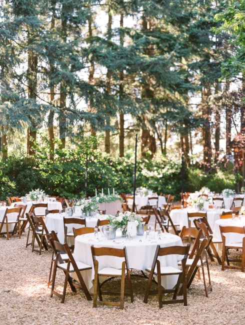 sophisticated floral designs Mcmenamins Roadhouse outdoor wedding ceremony centerpieces