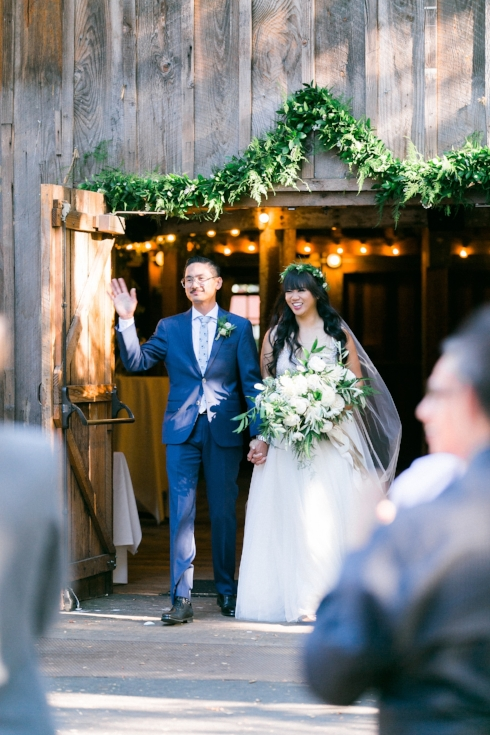 sophisticated floral designs Mcmenamins Roadhouse greenery garland wedding decor