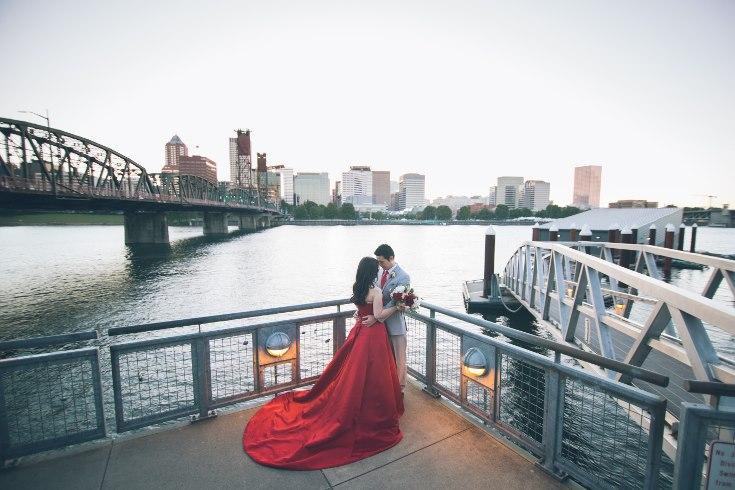 sophisticated floral designs portland oregon wedding florist aniko productions photography red bridal dress (20) (735x490).jpg