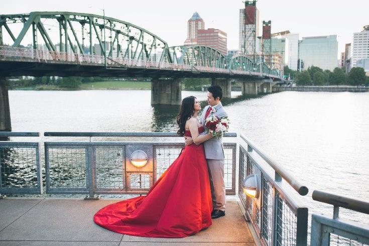 sophisticated floral designs portland oregon wedding florist aniko productions photography red bridal dress (17) (735x490).jpg