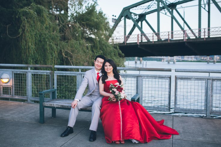 sophisticated floral designs portland oregon wedding florist aniko productions photography red bridal dress (1) (735x490).jpg