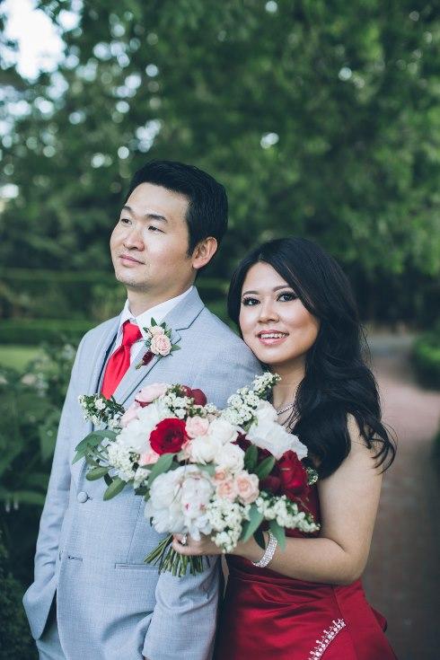 sophisticated floral designs portland oregon wedding florist aniko productions photography red bridal dress (7) (490x735).jpg