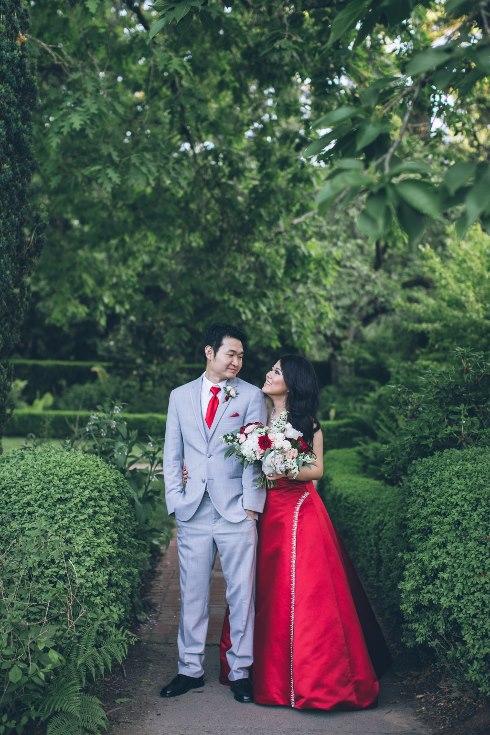 sophisticated floral designs portland oregon wedding florist aniko productions photography red bridal dress (6) (490x735).jpg