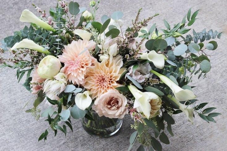 sophisticated floral designs portland oregon wedding florist blush dahlia bouquet abernethy center (1).jpg