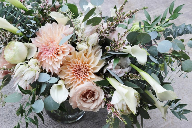 sophisticated floral designs portland oregon wedding florist blush dahlia bouquet abernethy center (9).jpg