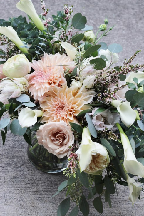sophisticated floral designs portland oregon wedding florist blush dahlia bouquet abernethy center (10).jpg