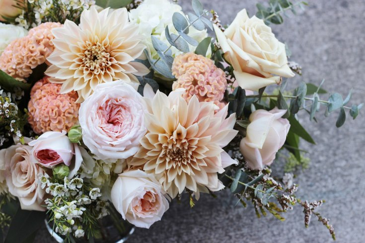 sophisticated floral designs portland oregon wedding florist blush pink flowers  dahlia garden rose (3) (735x490).jpg