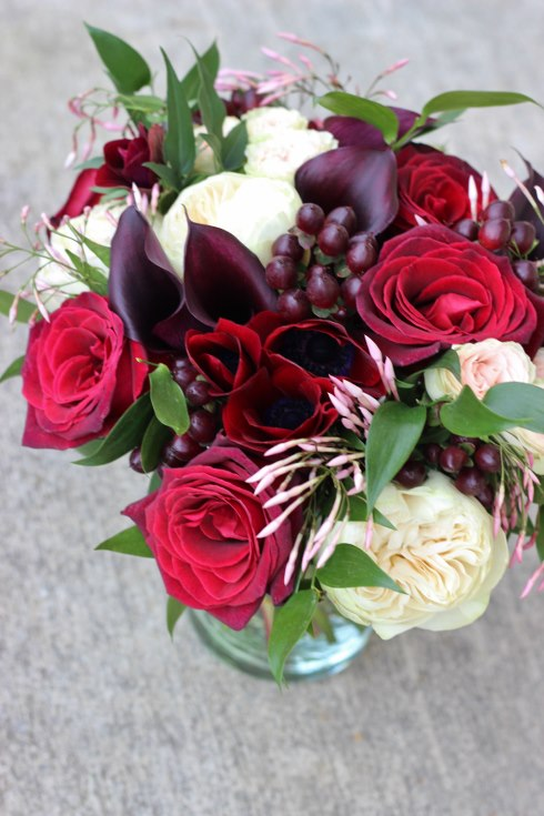 sophisticated floral designs portland oregon wedding florist burgundy black blush wedding bouquet calla lilies garden roses baccara jasmine vine (2) (490x735).jpg