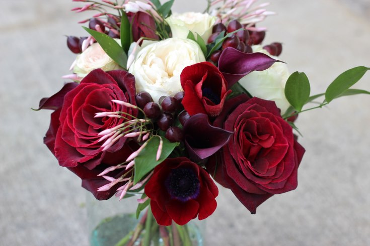 sophisticated floral designs portland oregon wedding florist burgundy black blush wedding bouquet calla lilies garden roses baccara jasmine vine (4) (735x490).jpg