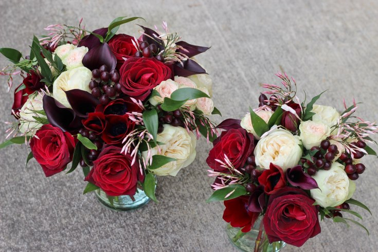 sophisticated floral designs portland oregon wedding florist burgundy black blush wedding bouquet calla lilies garden roses baccara jasmine vine (7) (735x490).jpg