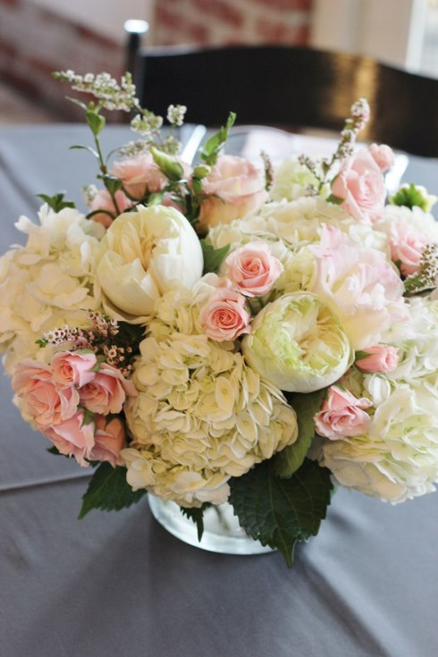 sophisticated floral designs wedding event florist baby shower bridal shower flowers blush pink centerpiece