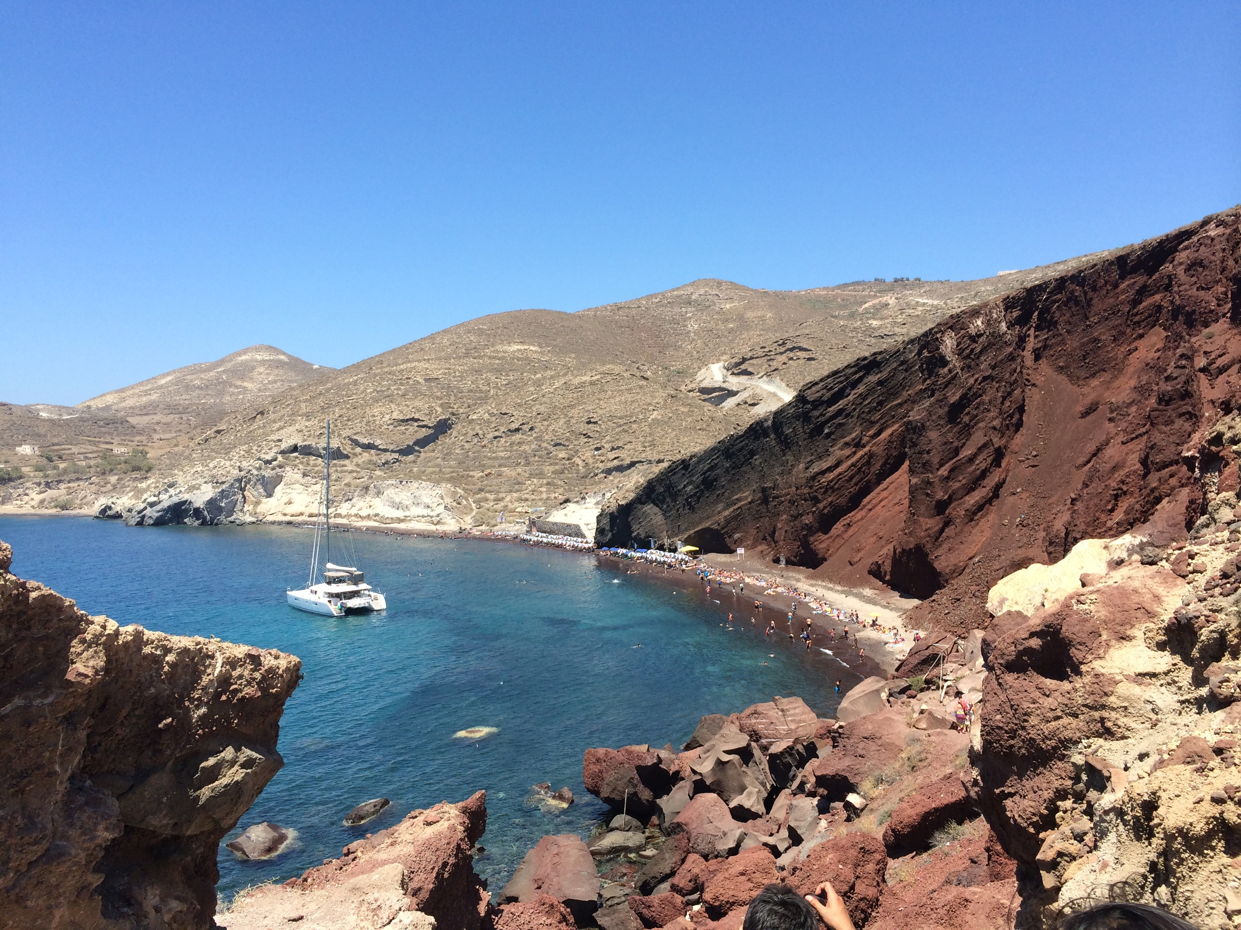 The view from the walk to Red Beach below