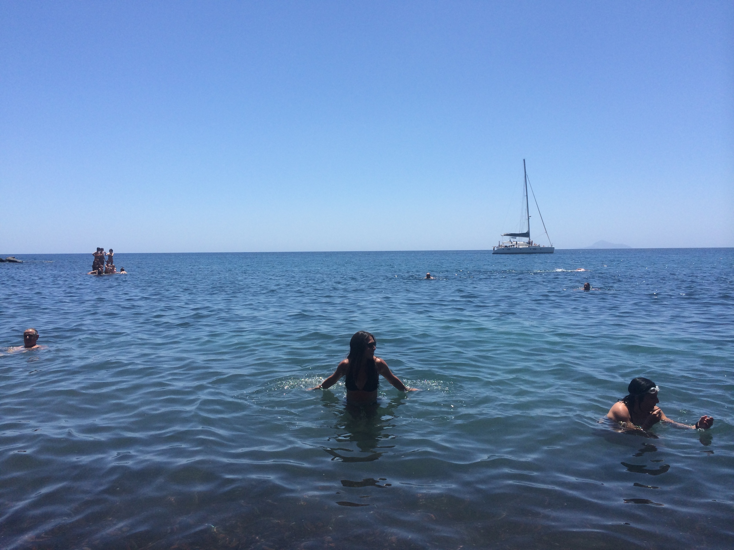 swimming at the Red Beach