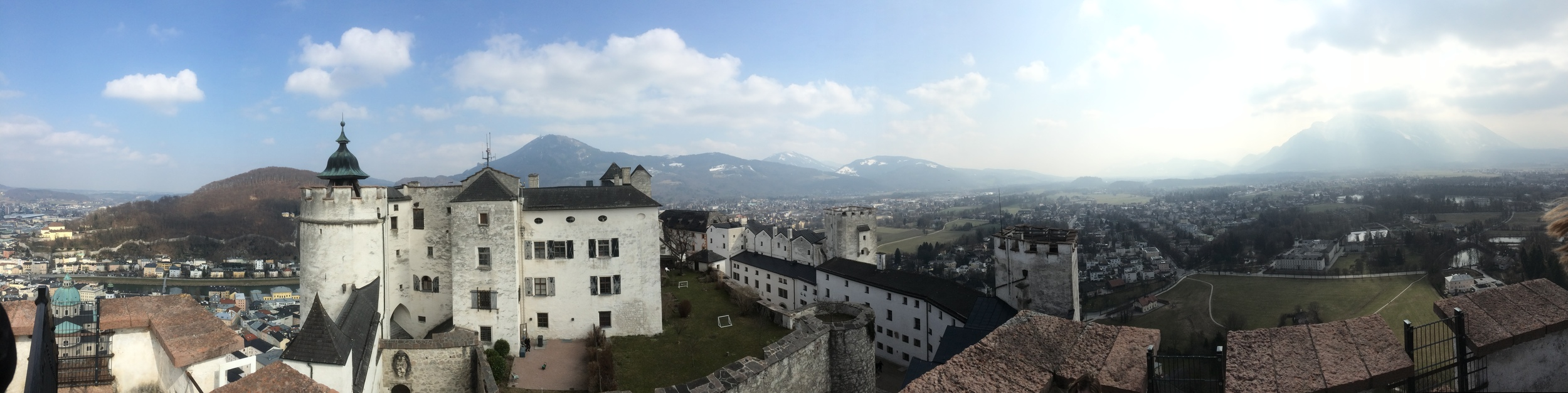 The view from the top of the Hoensalzburg Fortress