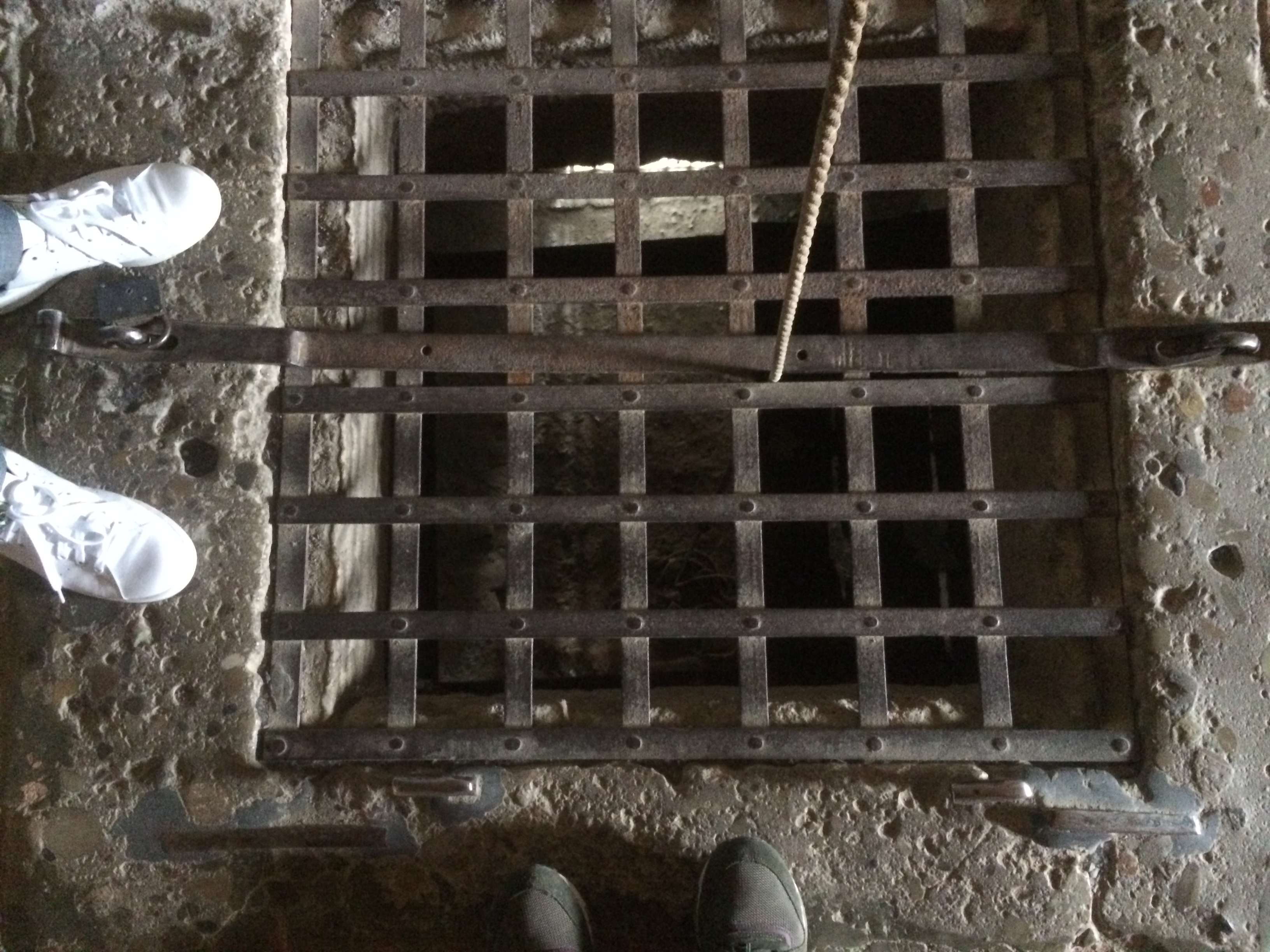 where they lower down prisoners to their cell