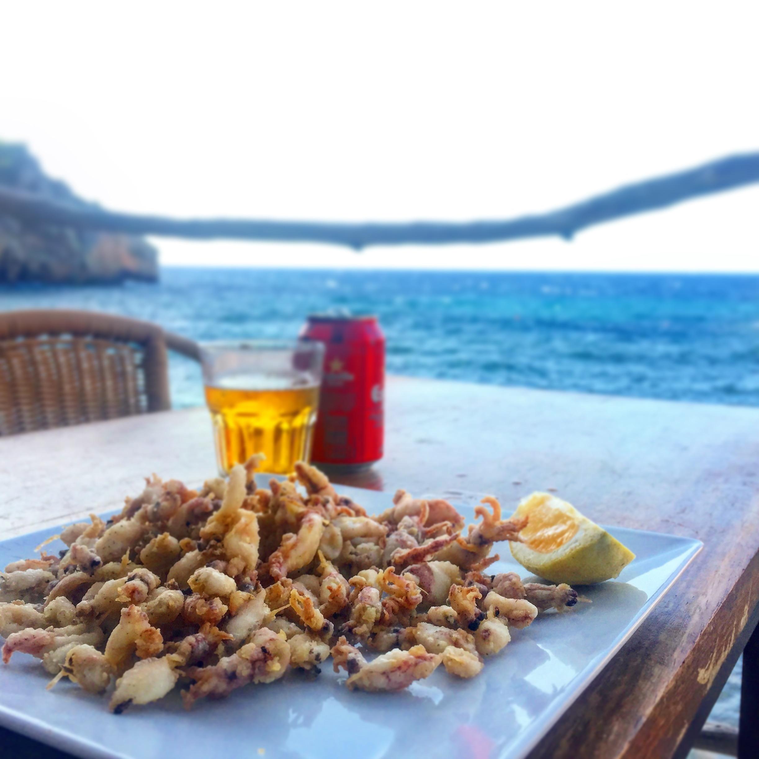 Hidden restaurant by the sea.  Mallorca, Spain